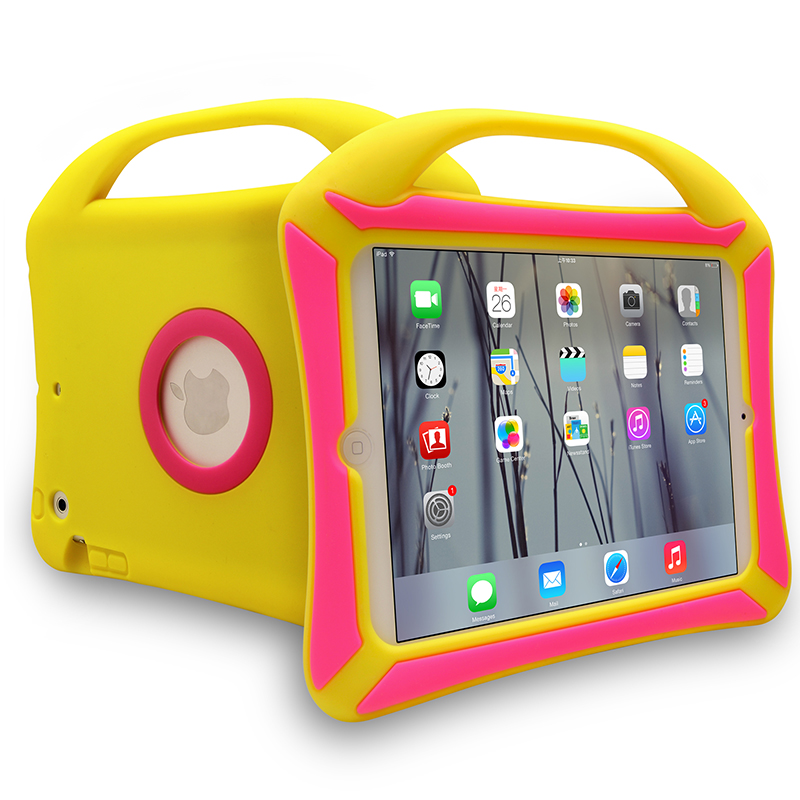 Convenient design cute silicone case for ipad mini