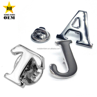 fancy cheap novelty size custom made metal letter alphabet lapel pins