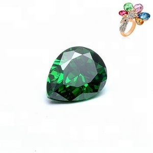 Wholesale Price 4x3mm CZ Gems Emerald Pear Cut Cubic Zirconia for Jewelry