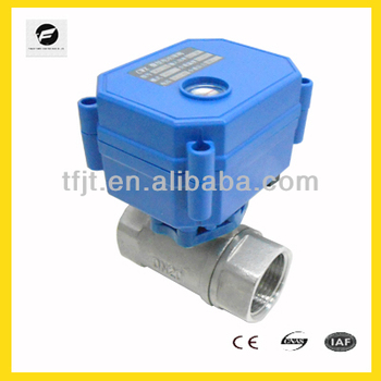 1.5NM DN20 mini 2- way electric actuated valves CWX-15Q/N for drinking water CE and ISO approved