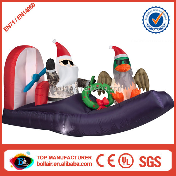 Hot selling new design holiday inflatable floating santa claus