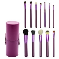 Shaving Mug And Brush set Queena Eyebrow Foundation 12Pcs Makeup Brushes Packaging