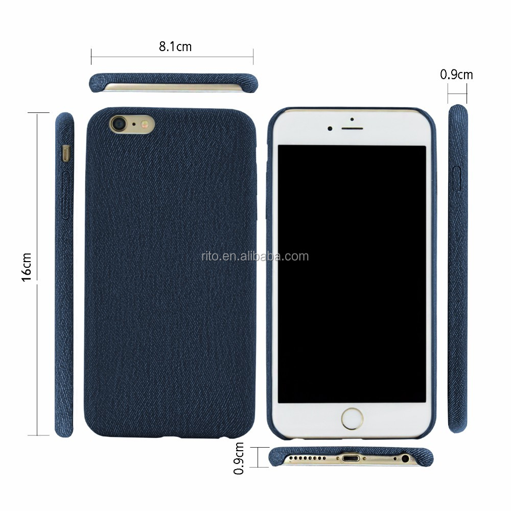 For Denim iPhone 6 Case, Denim Leather Phone Case For iPhone 6 4.7inch