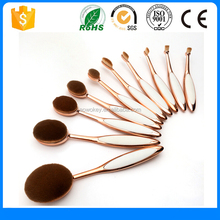Your Own Brand Makeup Brushes Set,10Pcs/Set Rose Gold Oval Toothbrush Brush Makeup Sets