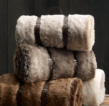 High End Nice Feeling Ultra Plush Microfiber Lint Free Acrylic Blanket Chinchilla Faux Fur Throw