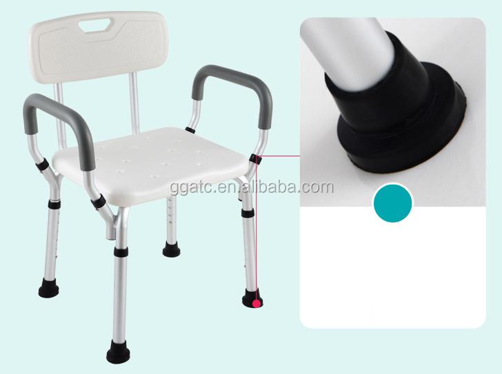Gogo lega di alluminio sedia sgabello da bagno bagno di