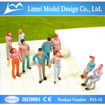 Model painted figure for layout , model making figure/model scale people 1/43 scale for train layout