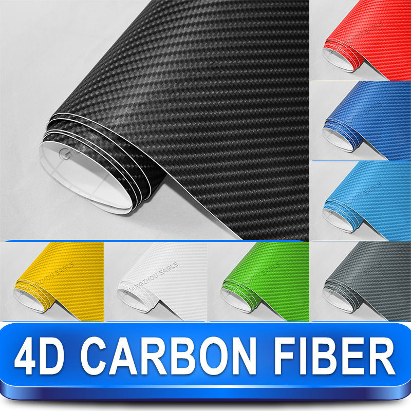 Guangzhou Eagle Self Adhesive Heat Resistant Fancy Design Of 4D Carbon Fiber PVC Vinyl Car Sticker