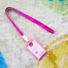 Держатель для карт из полиуретана, 1 шт., карамельный цвет, портативный, модный, идентификационный номер автобуса, со шнурком(Китай)