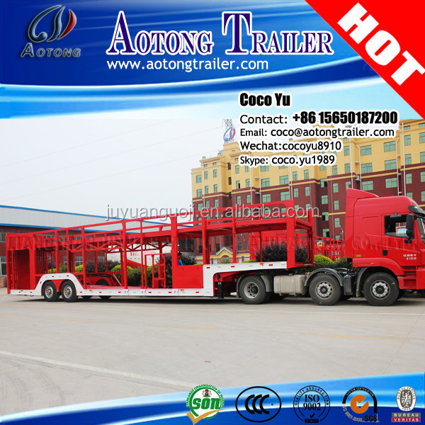 China gold supplier 2-axle 20 units cars carrier transporting long vehicle trailer truck