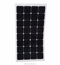 22% Efficiency Sunpower Flexible Solar Panel 100W Black Panel For RV Boats