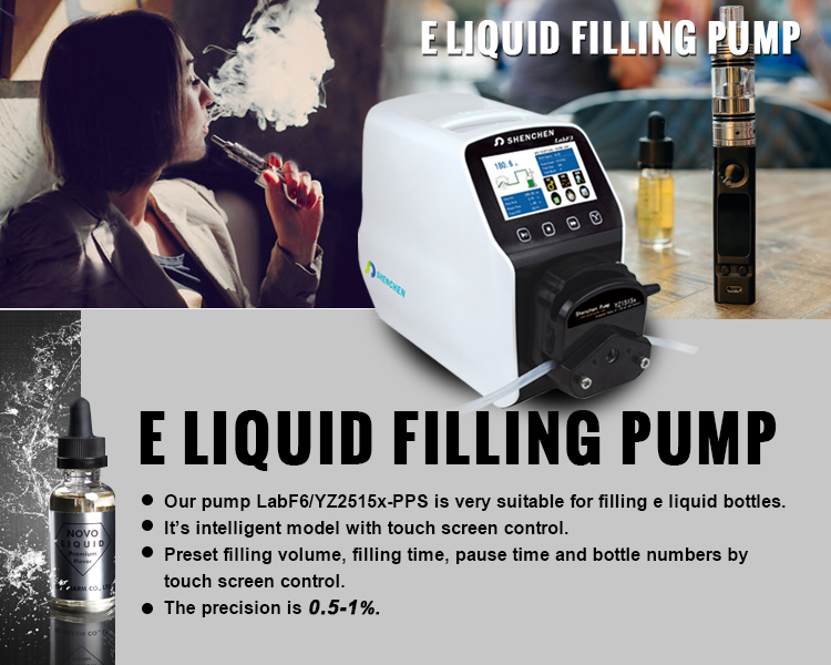E Liquid Filling Machine Peristaltic Pump