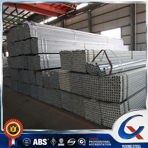 Q345D HDG square steel pipe/hot dipped galvanized square steel pipe/Gate post