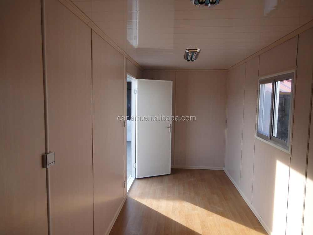 prefabricated movable modern flat pack 20ft container house