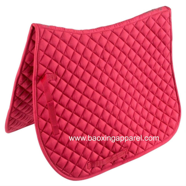 Diamond Quilted Cotton English Saddle Pad