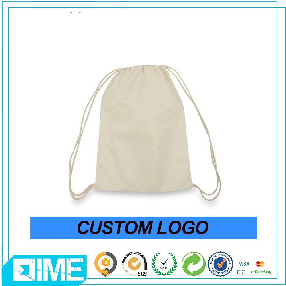 Ginzeal Wholesale Fashion Drawstring Bag Custom Cotton Drawstring Bag