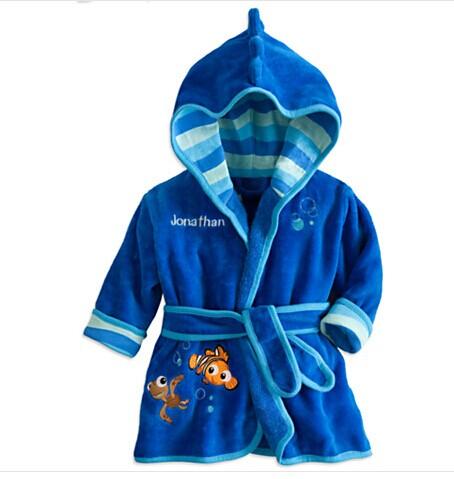 f670ae4b84 Children s Boys Cartoon Robe Bathrobe 2015 New Baby Flannel Pajamas Boys  Homewear Kids Warm Robe With