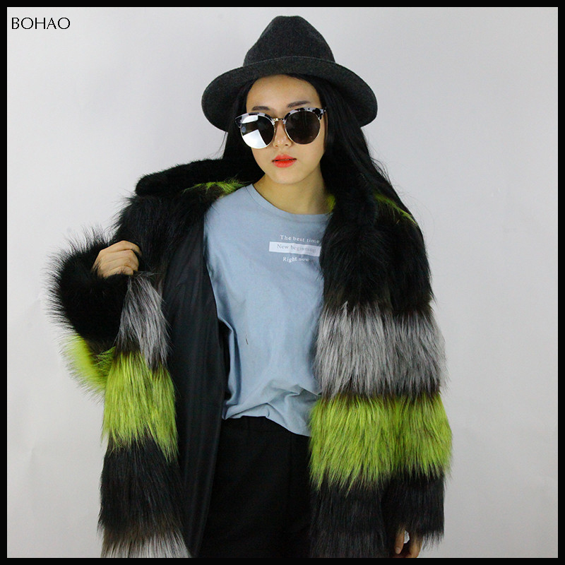 2016 women's cashmere long extreme winter jacket with fur