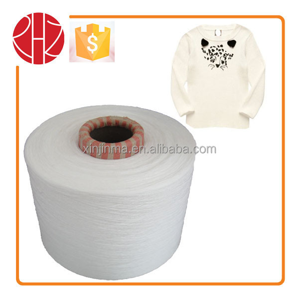 14S/1 knitting and weaving yarn 65/35 polyester cotton yarn factory price in china