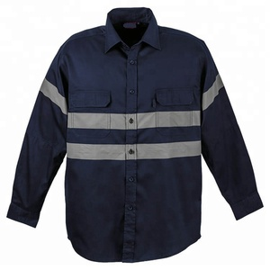 High vis cotton drill work shirts Security shirt uniform work wear shirts
