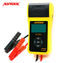 Free shipping iMulti-language AUTOOL BT660 car Battery Tester Built-in Printer BT-660 Battery Tester Auto Diagnostic Tool