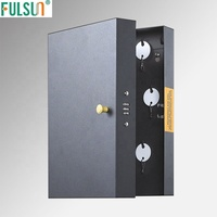 Coded lock metal key cabinet with key hook