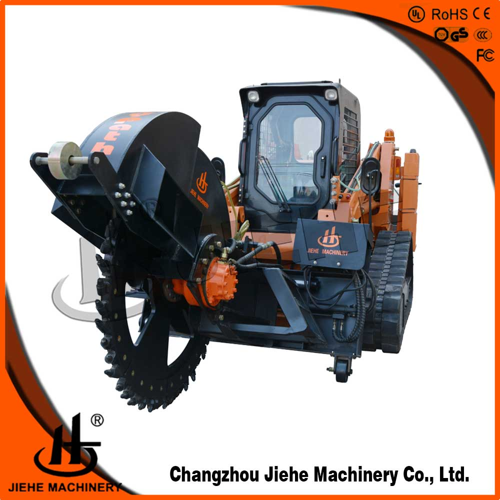 craw type trench digger rock saw for laying cable optical fiber with 500mm cutting depth JHK600