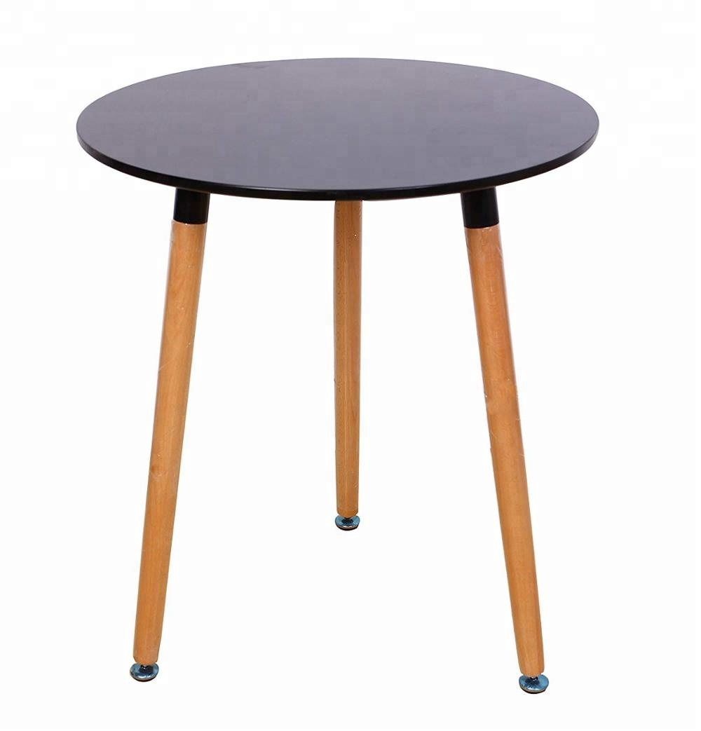 Mesa De Cafe Whole Price Modern Water Proof Particle Board End Table Mdf Top Solid Wood Leg Small Round Wooden Coffee