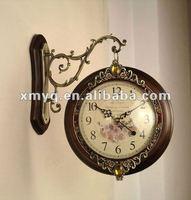 Wooden wall Antique Brass Clock