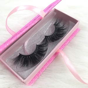 FDshine Custom Packaging 25mm Eyelashes 3D Mink Long Length Lashes