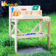 2016 wholesale kids wooden tool toy set, new design baby wooden tool toy set, cheap children wooden tool toy set W03D022