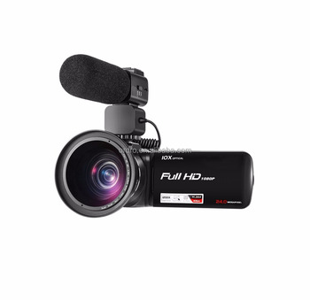 ORDRO Digital Video Camera Full HD 1080P 30fps 10X optical zoom camcorder Support extra microphone full HD video camera