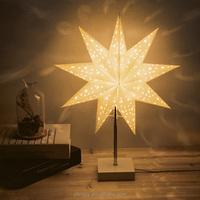Enneagon Star Paper Table Lamp