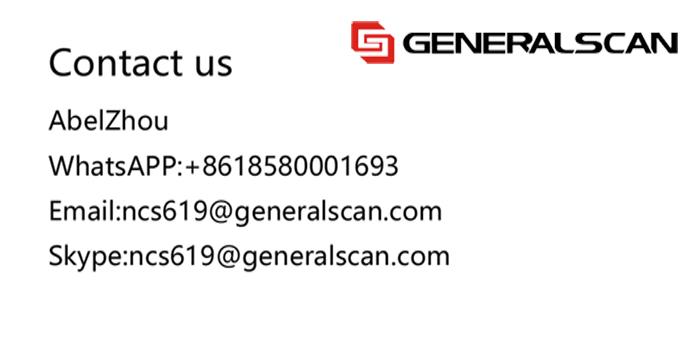 Generalscan GS M500BT 2D Imager CMOS Wireless BT4.0 Mini Barcode Scanner with HG135&STD135 For Retail,Supermarket (GS07)