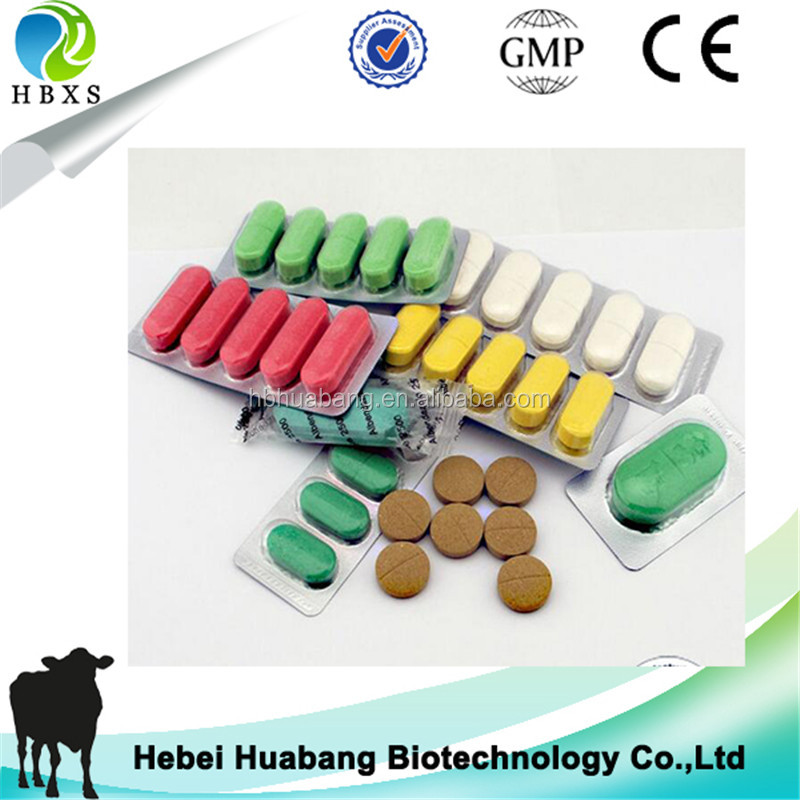 Veterinary Antibacterial Medicine Albendazole Ivermectin Tablet/bolus For Cattle Sheep Worms