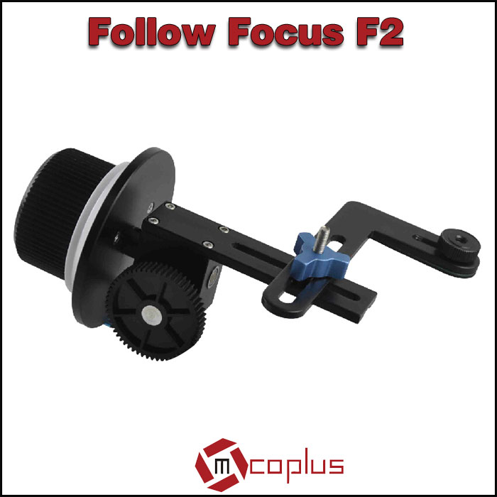 MCOPLUS 15mm Guide Rail Accurate Focusing Excellent Damping Design Wireless Follow Focus F2 for DSLR and Camcorders