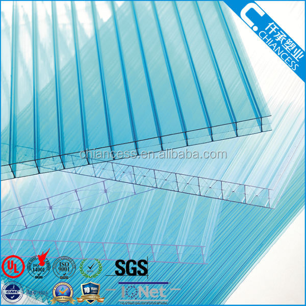 Withe Uv Layer Greenhouse Roofing Material Polycarbonate Hollow Sheet Flat  Pc Panels   Buy Greenhouse Roofing Material,Tinted Plastic Roofing Sheet ...