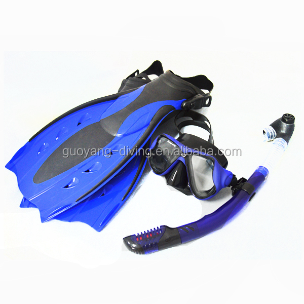 High quality sea snorkel set wholesale adjust snorkeling fin mask set rubber fins