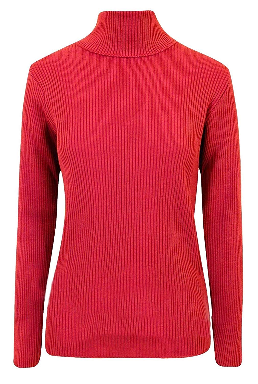 3b4d438992aa08 Get Quotations · FASHION FAIRIES Womens Polo Turtle Neck Ribbed Jumper Top  Ladies Full Sleeve Stretch Jumper Top