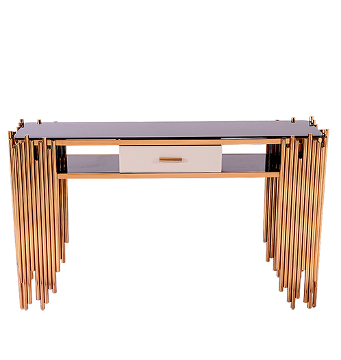 Modern household hall way tempered glass top Console table