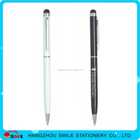 2016 Promotional logo printing advertising black matte metal pen