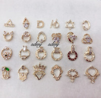 2019 Newest design luxury gold mix styles zircon nail art accessories