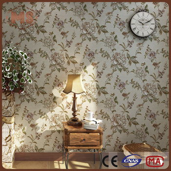 Warmly Family Decorative 3d Floor Wall Mural Non Woven Wallpaper With  Beautiful Flower Design - Buy Non-toxic Wallpaper,Golden Flower  Wallpaper,Fine