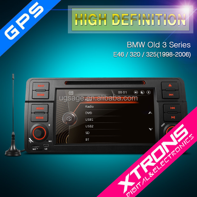 "PF7146BGTD - 7""1080P Video HD Digital Touch Screen DVD Player Bulit-in MPEG-4 TV with GPS Navigation Canbus For E46 BMW 3 Series"