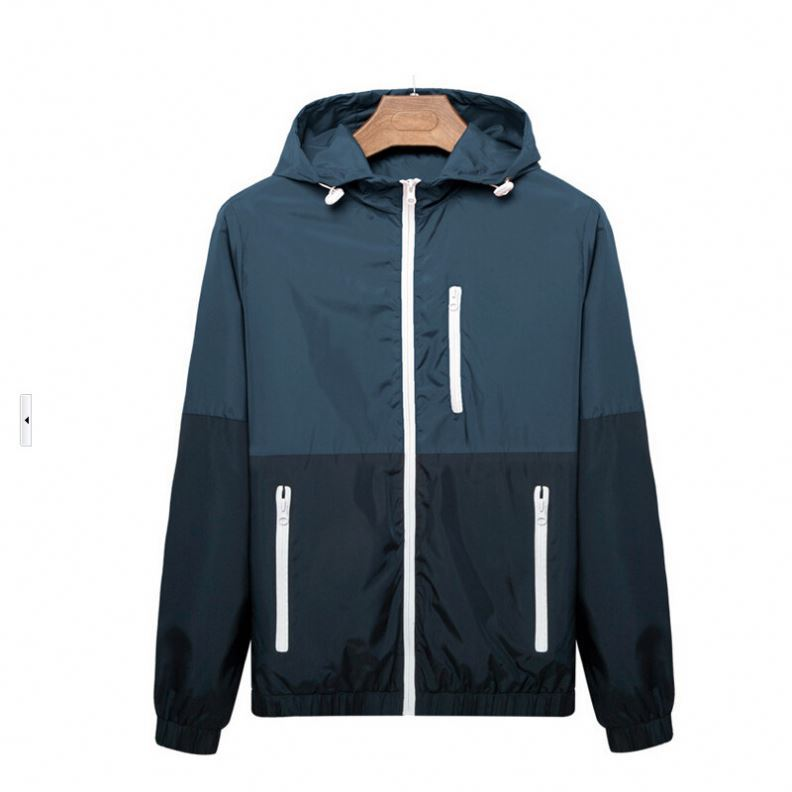 2017 Latest Design Man Polyester Windproof Waterproof Jacket / Jogging Running Windbreaker