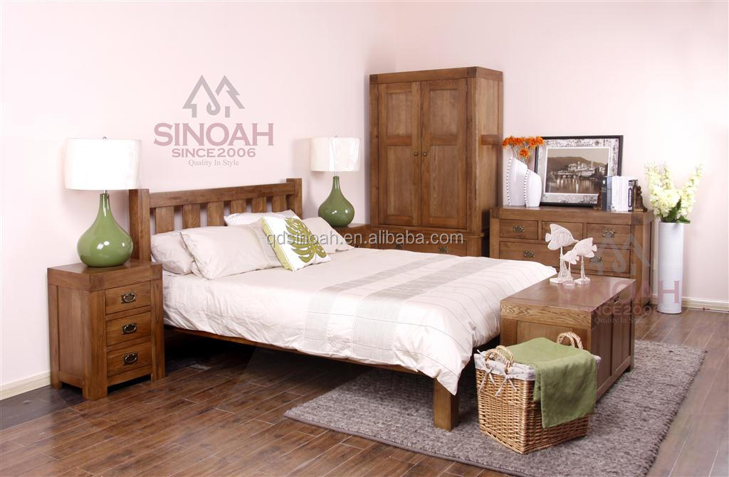 2015 china wood furniture manufacturer antique solid oak bedroom furniture
