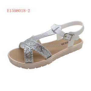 White Branded Sport Sandals For Ladies
