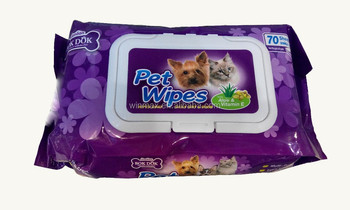 2015 Hot Sale New Design Pet cleaning Wipes 70pieces