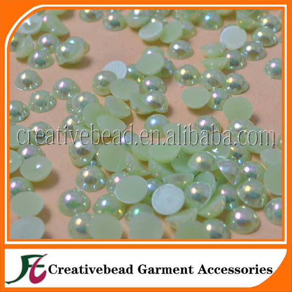 AB Color Half pearl Plastic Round beads half pearl for DIY