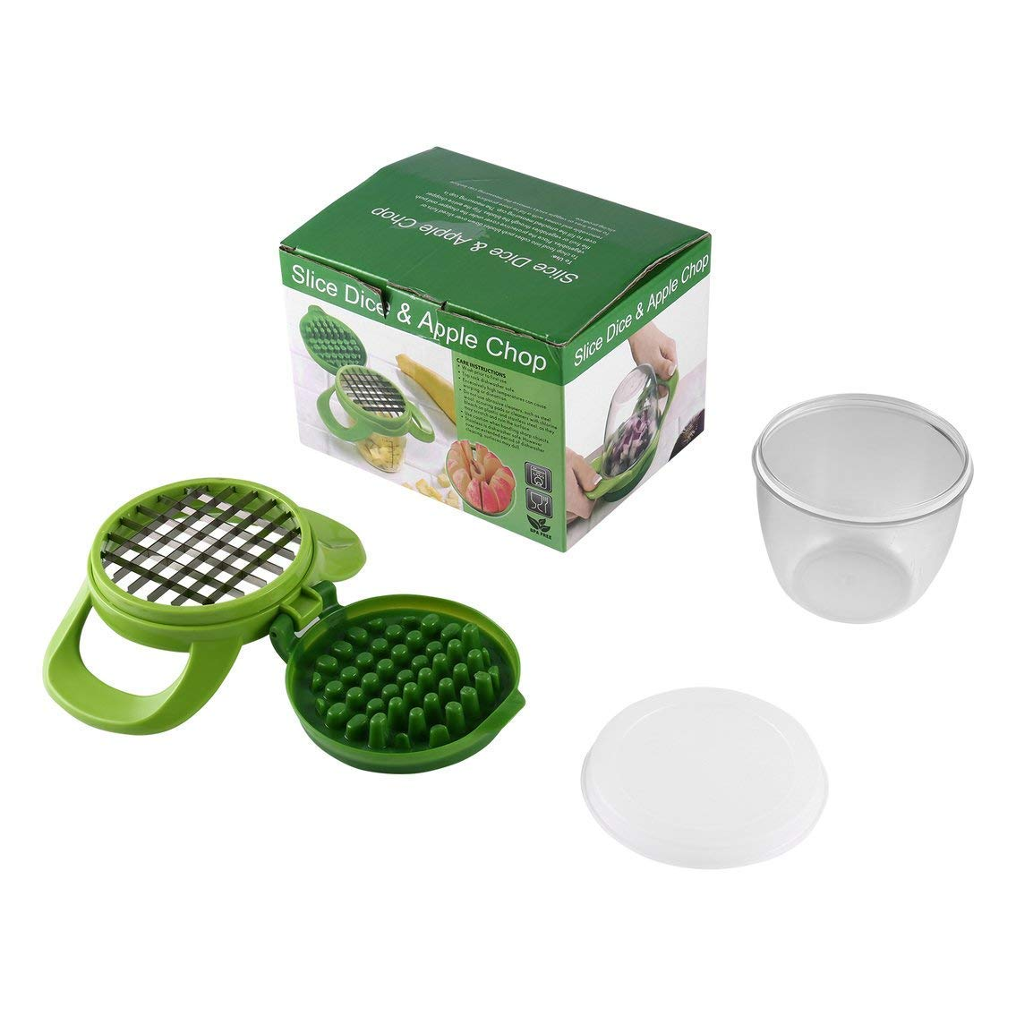 Mazur Food Onion Chopper Fruit & Vegetables Slice Dice Chop Machine Potato Dicer DIY Salad Easy Clean Slicer Fruit & Vegetable Tools(Green)